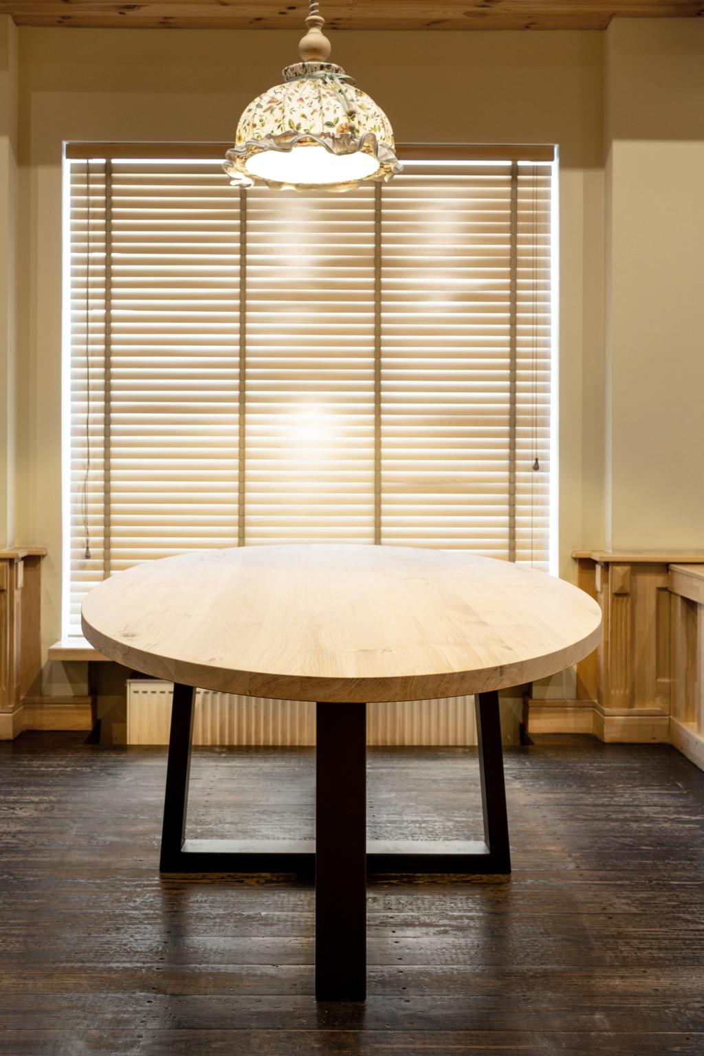 alleen ronde tafelbladen