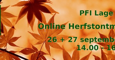 PFI Nederland Herfstontmoeting 26-27 september 2020.