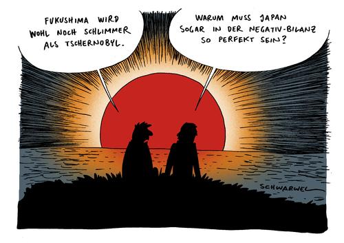 Cartoon: Fukushima schlimmer Tschernobyl (medium) by Schwarwel tagged fukushima,tschernobyl,negativ,atom,atomkraftwerk,reaktor,katastrofe,seuche,tod,krankheit,mensch,tier,erdstoß,erdbebe,beben,klima,umwelt,natur,zerstörung,radioaktiv,verseuchung,störfall,tepco,tsunami,karikatur,schwarwel,fukushima,tschernobyl,atom,reaktor,tod,krankheit,erdbebe,zerstörung,natur,umwelt,klima,verseuchung,radioaktiv,störfall,tepco,tsunami,japan,akw atomkraft,akw,atomkraft
