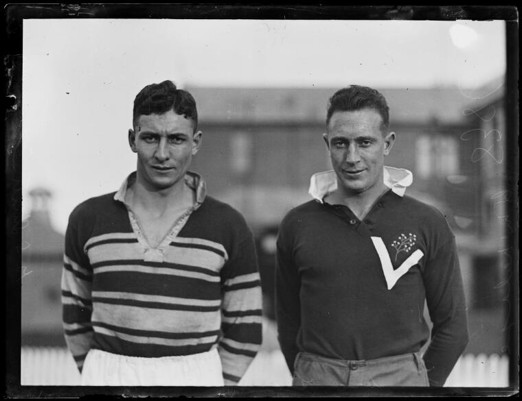 Rugby Union Captain G.S. Sturtridge and Vice Captain C. McNeilage, New South Wales, ca. 1920 [picture].
