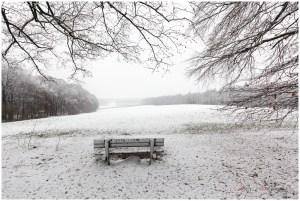 Winter, Mariëndaal, Arnhem, sneeuw, zitbank
