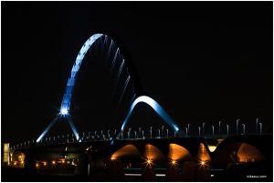 brug, Oversteek, de Oversteek, Avondopname, fotografie