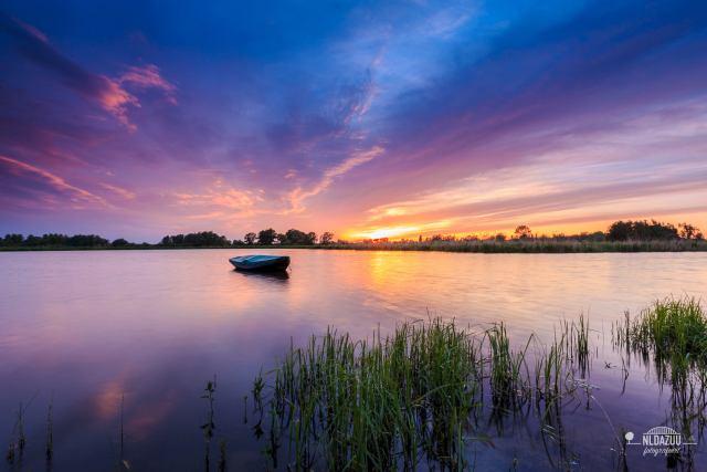 De Ooijpolder, een kleurrijke avond