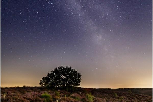 Posbank, Melkweg, sterren, landschap
