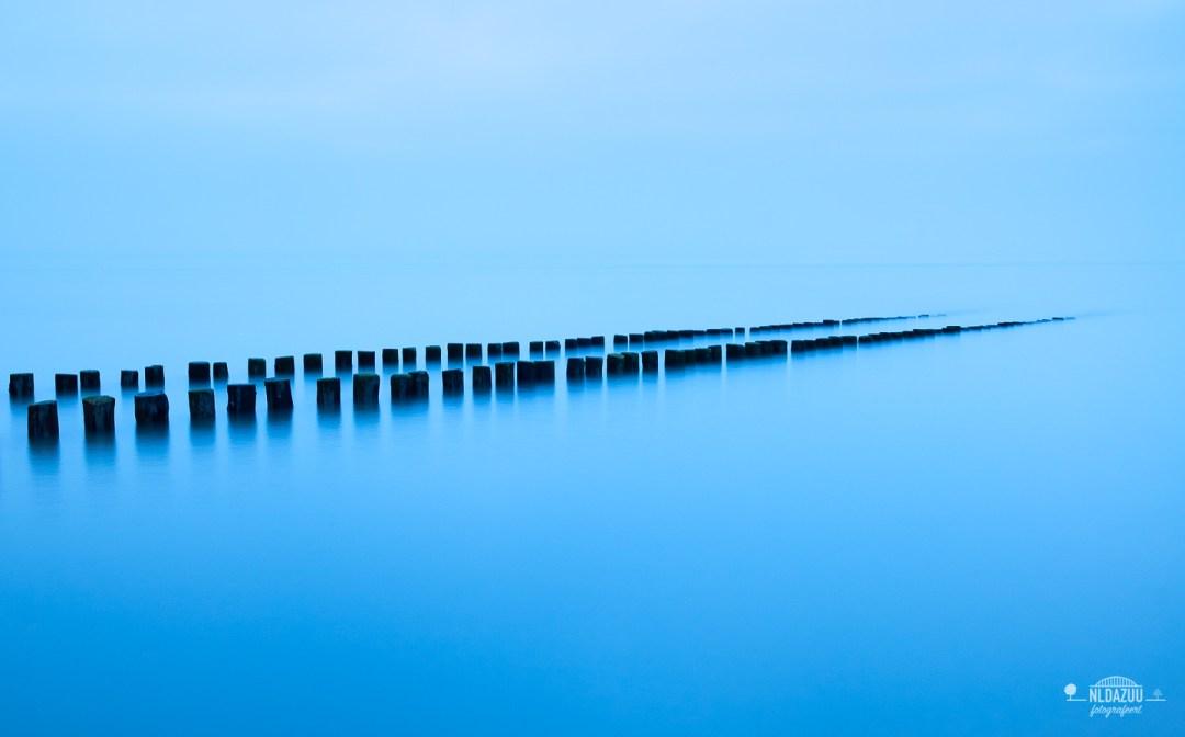 Long exposure, blue hour, zeeland, Noordzee
