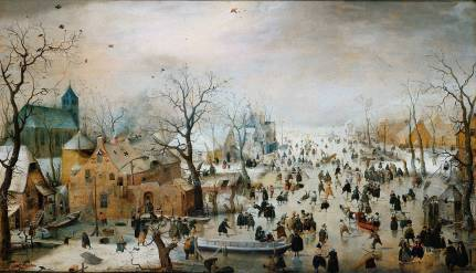 """Winter Landscape with Ice Skaters"" by Hendrick Avercamp, an artist specialized in winter scenes (Rijksmuseum Amsterdam)"