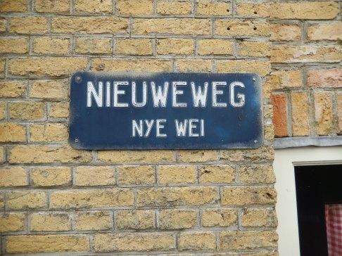 Street names in Frisian (Hindeloopen)