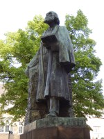 A statue of Pierre Cuypers in Roermond, his native town.