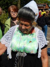Traditional costume in Keukenhof