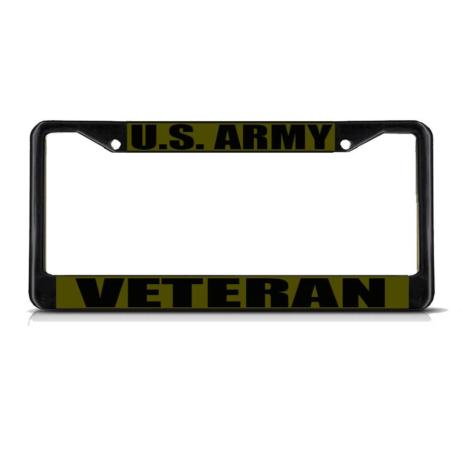 Veteran Plate Frames Army Custom License