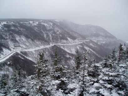 Cape Breton winter trail