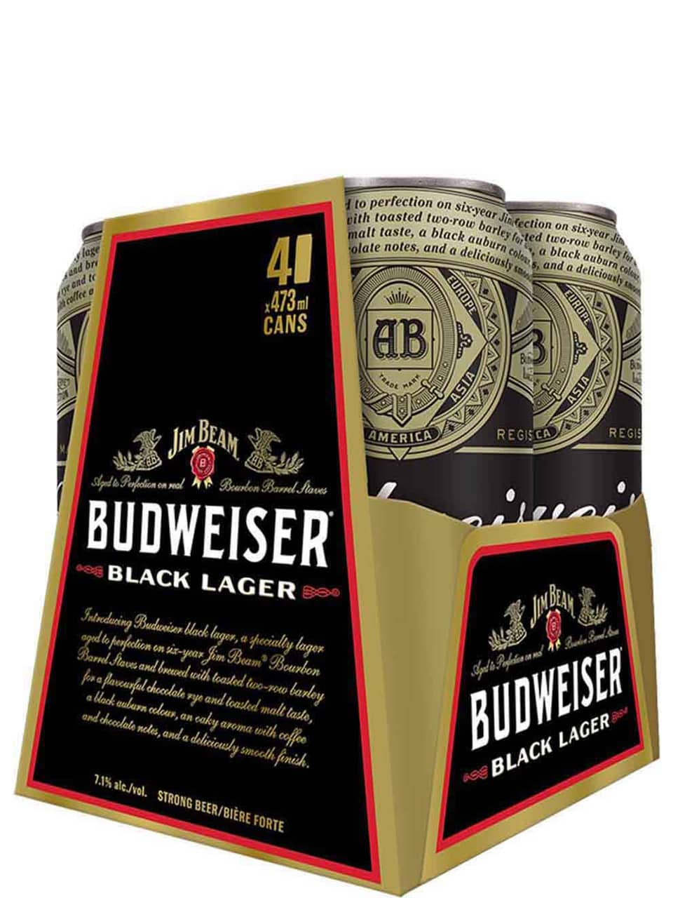 Budweiser Black Lager 4 Pack Cans