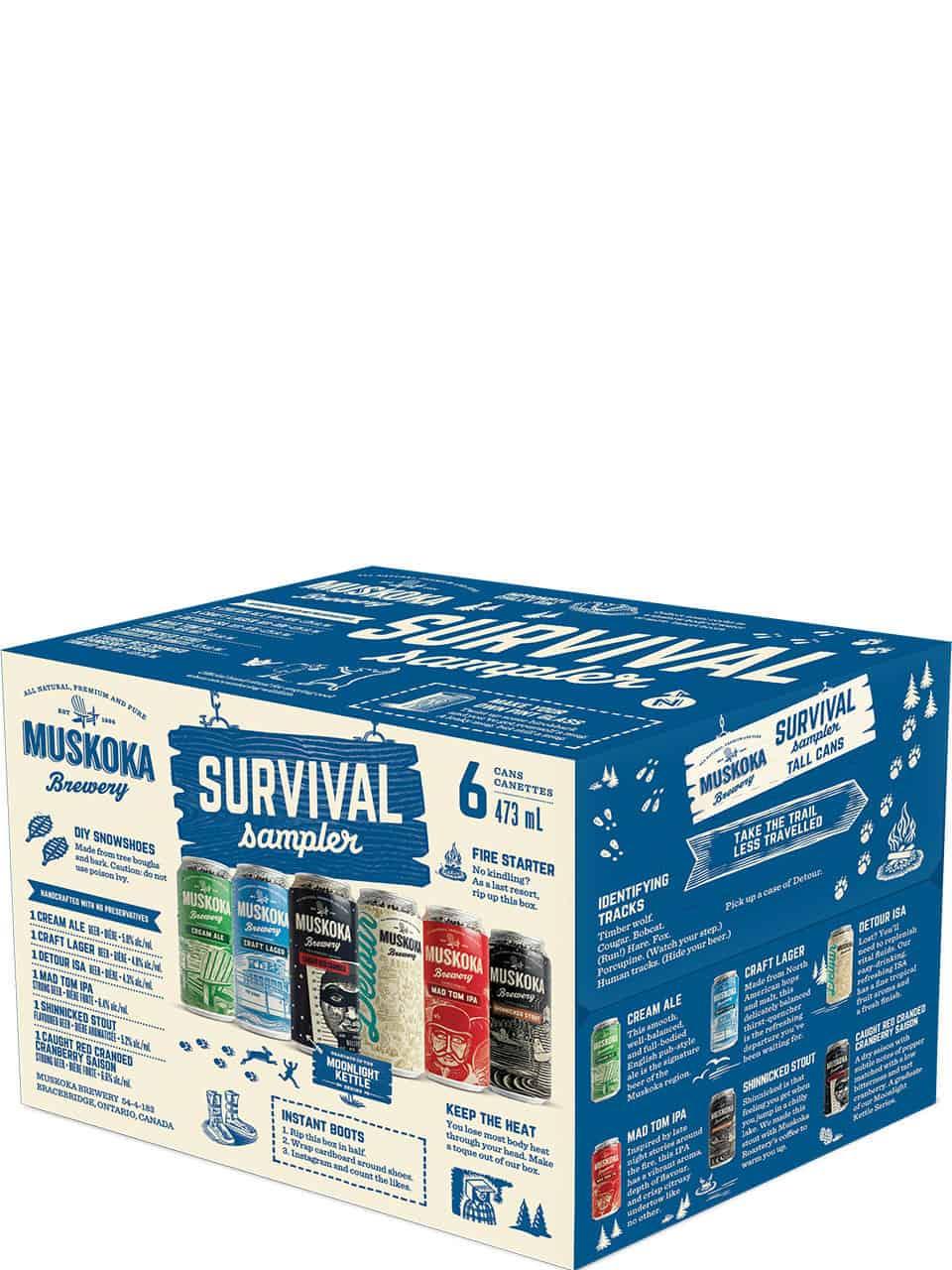 Muskoka Winter Survival Sampler 6 Pack Cans