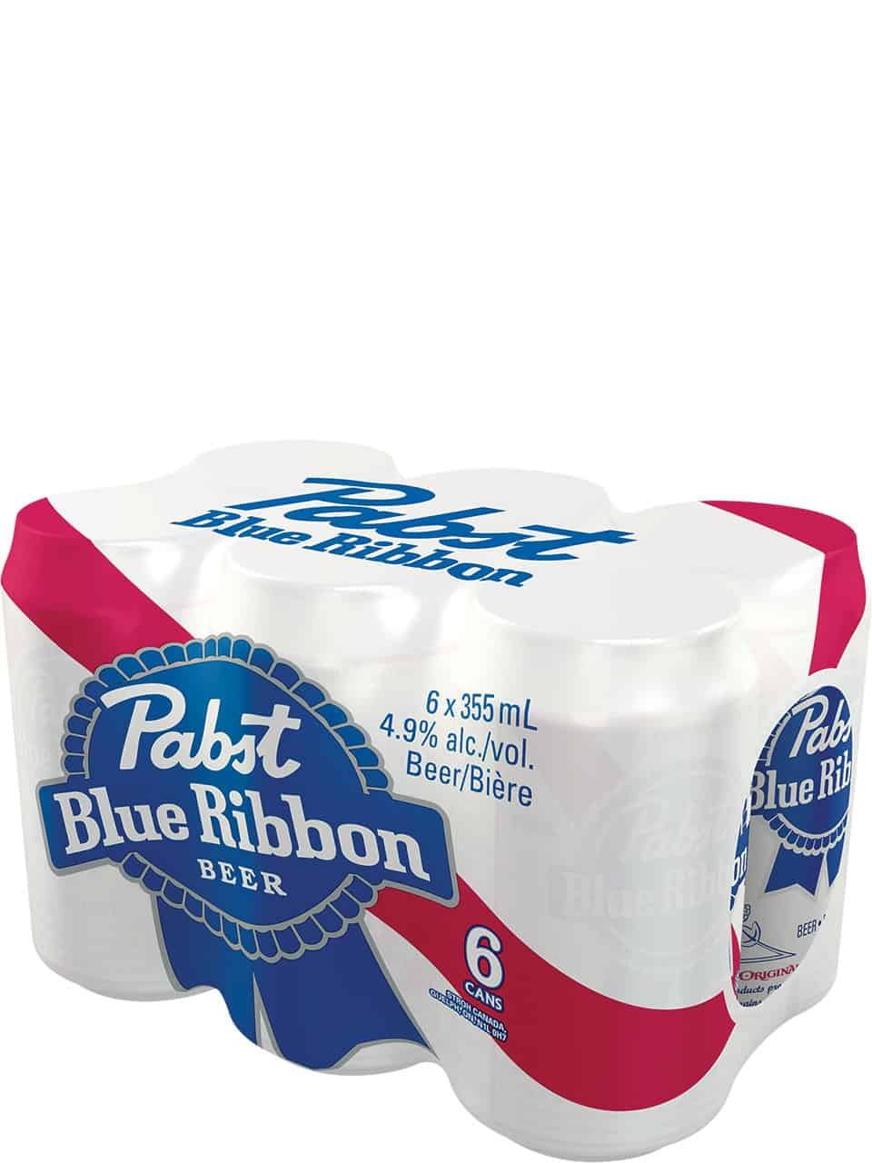 Pabst Blue Ribbon 6 Pack Cans