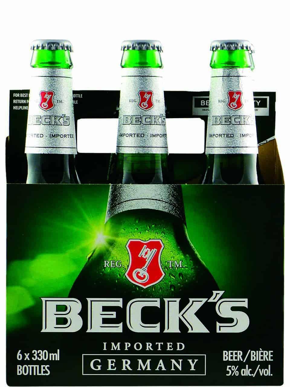 Beck's Beer Bottles 6pk