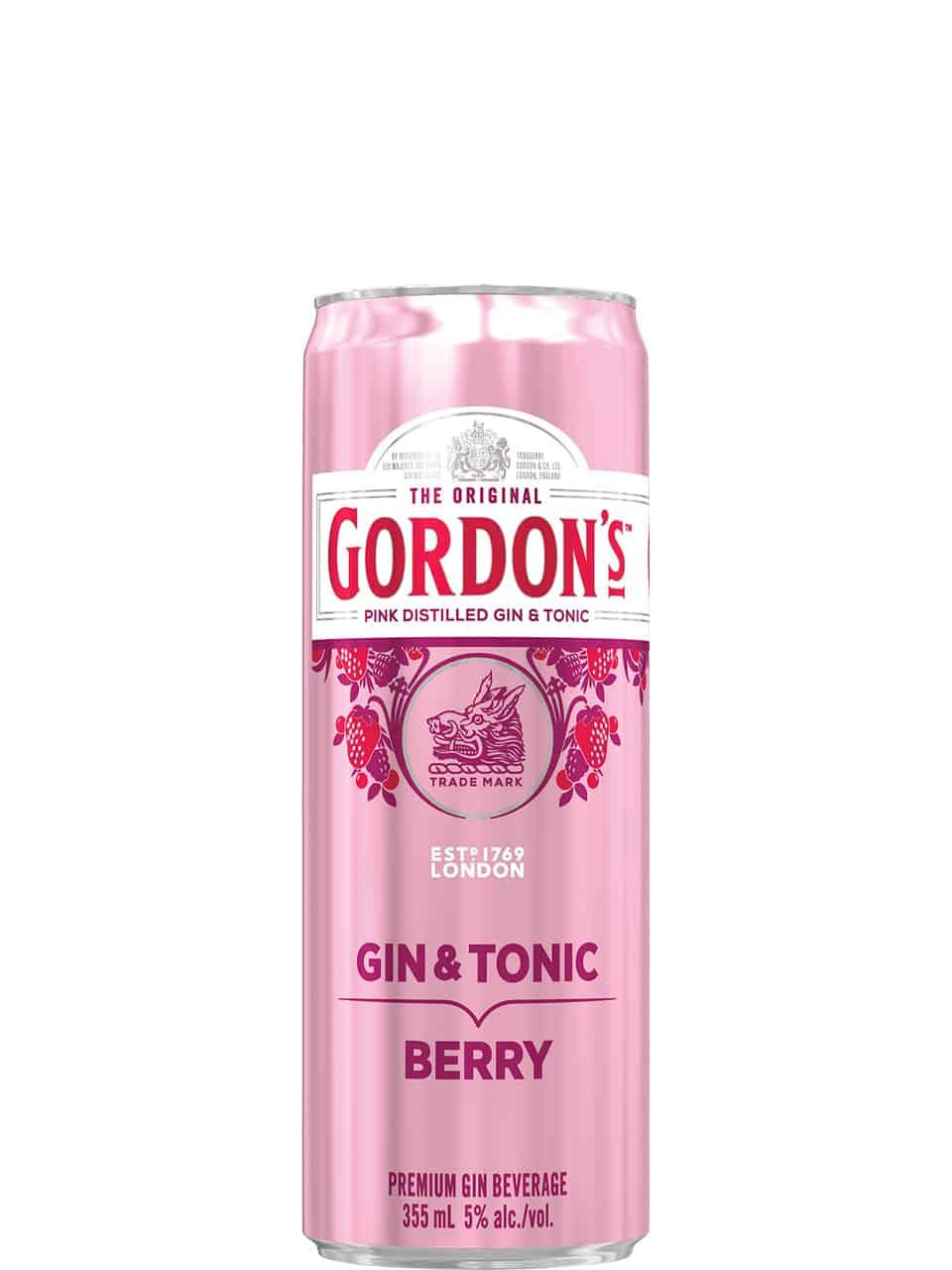 Gordon's Gin Pink Raspberry Gin & Tonic 355ml Can