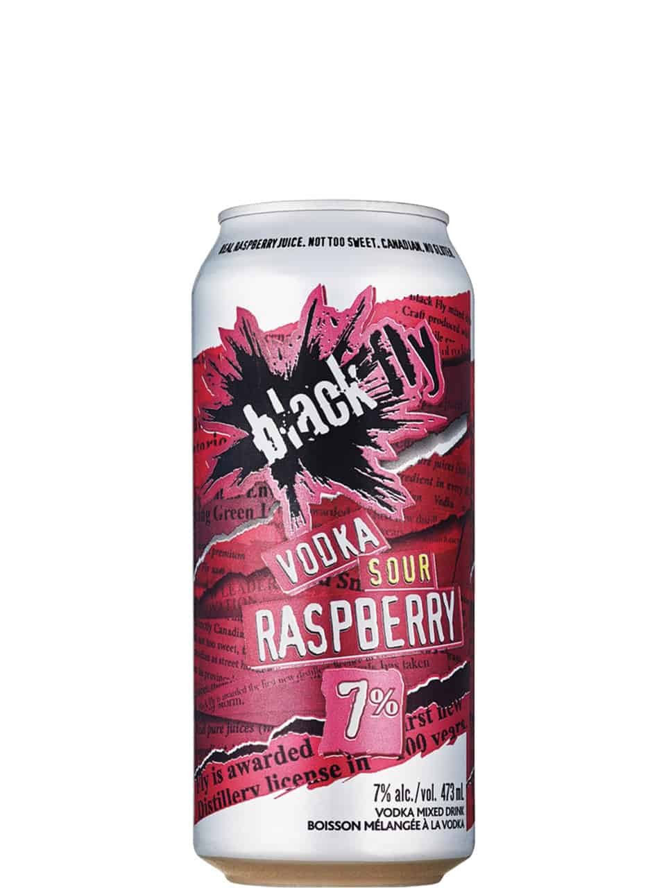 Black Fly Vodka Sour Raspberry 473ml Can