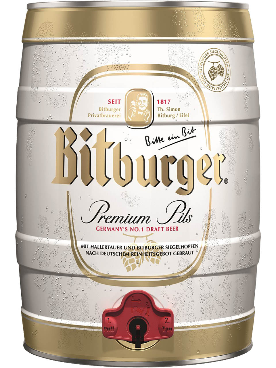 Bitburger Premium Beer Mini Keg