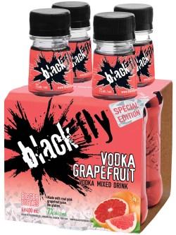 Black Fly Vodka Grapefruit 4pk