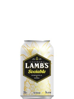 Lamb's Sociable Pineapple & Soda 6 Pack Cans