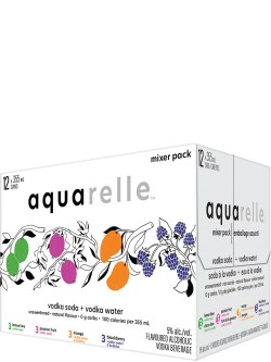 Aquarelle Mixer 12 Pack Cans