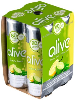 Alive Lemon Lime 4 Pk