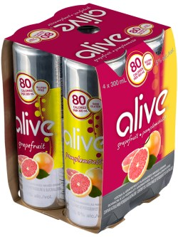 Alive Grapefruit 4 Pk