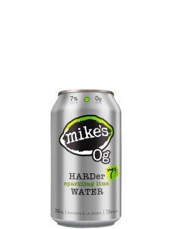 Mike's 0g Hard Sparkling Lime Water 6 Pack Cans