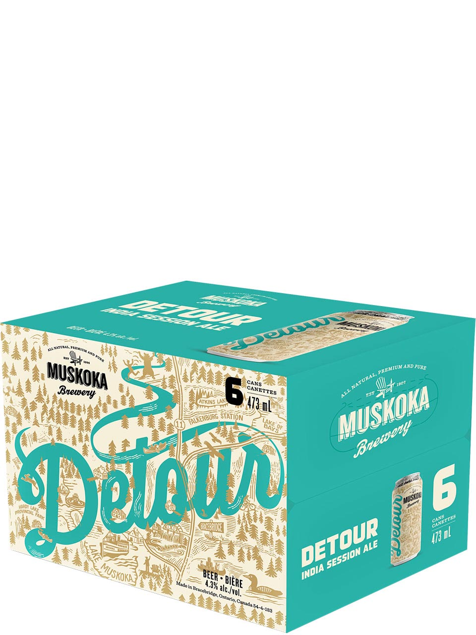 Muskoka Detour IPA 6 Pack Cans