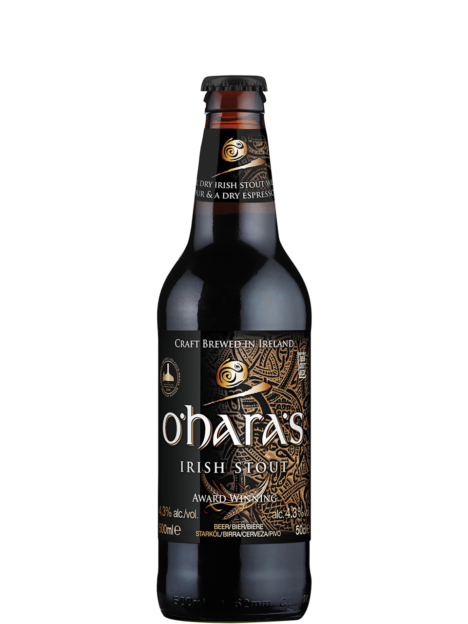 O'hara's Irish Stout 500ml Bottle
