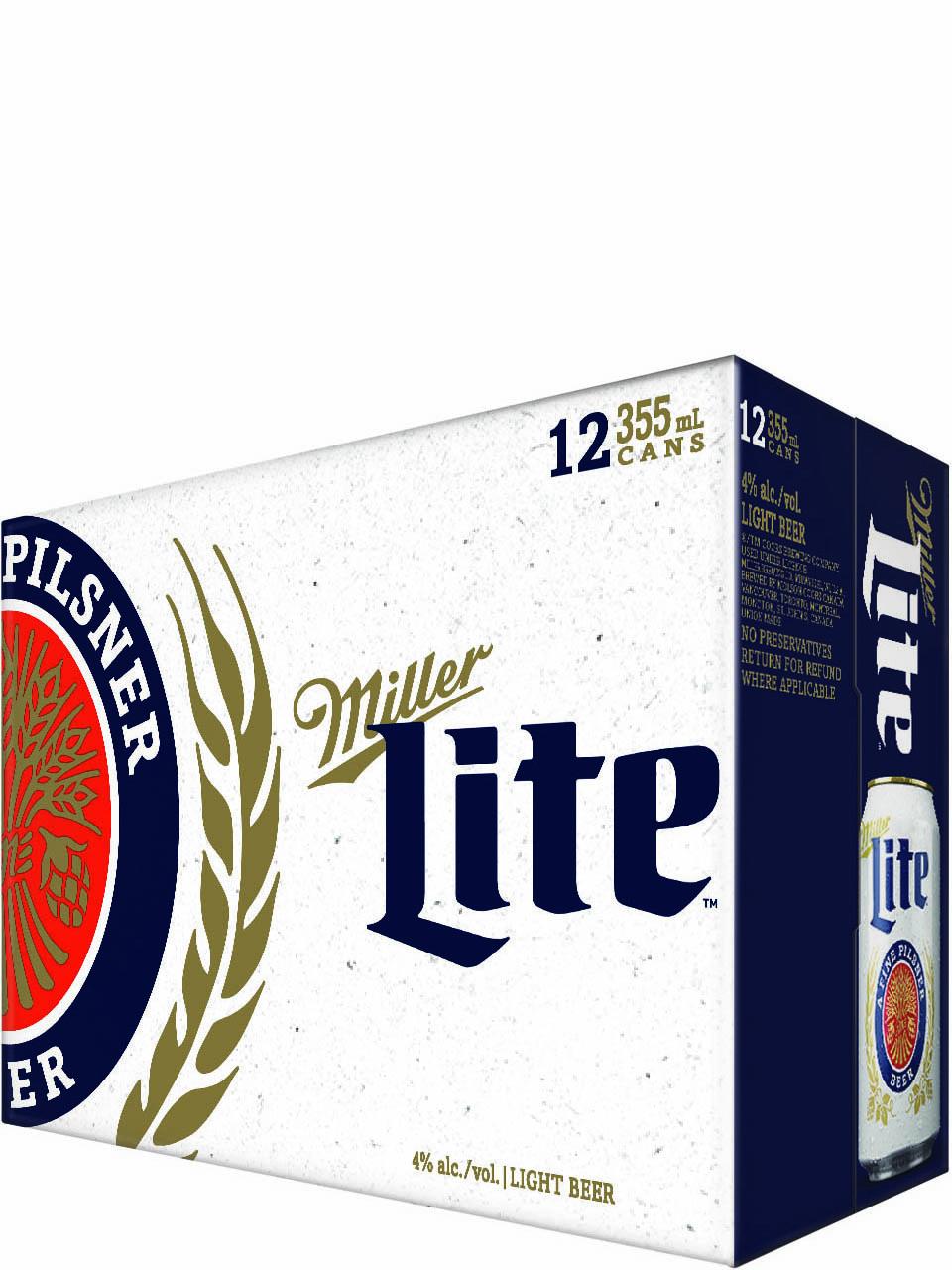 Miller Lite 12 Pack Cans