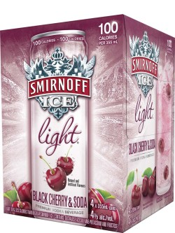 Smirnoff Ice Light Black Cherry & Soda 4 Pack Cans