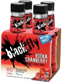 Black Fly Vodka Cranberry Mixed Drink 4pk