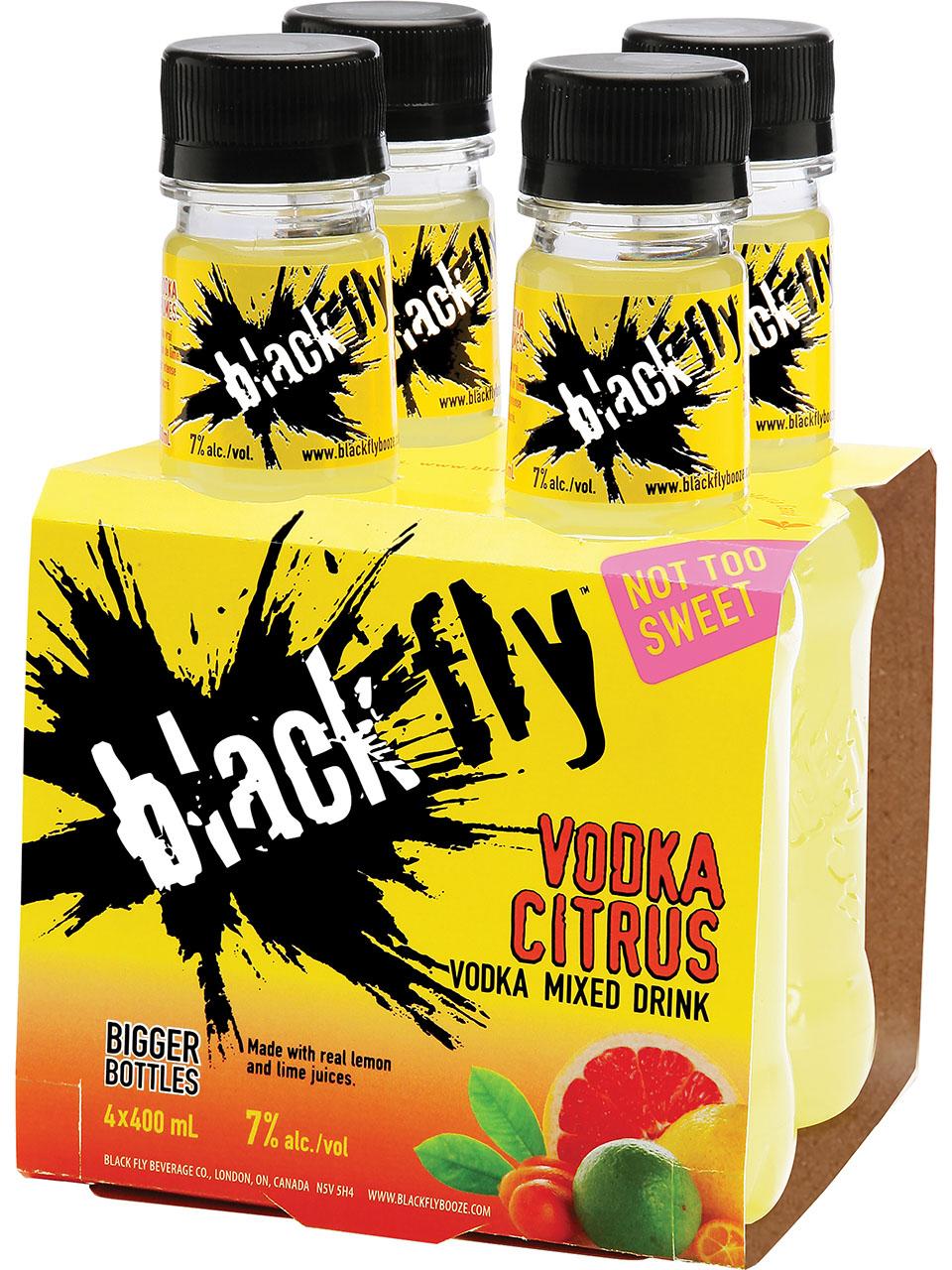 Black Fly Vodka Citrus Mixed Drink 4pk