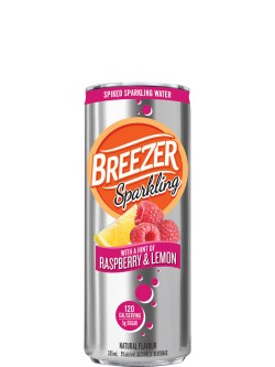 Breezer Sparkling Raspberry & Lemon 6 Pack Cans