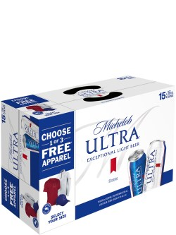 Michelob Ultra Sleek 15 Pack Cans