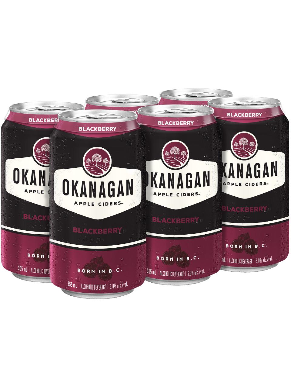Okanagan Blackberry Cider 6 Pack Cans