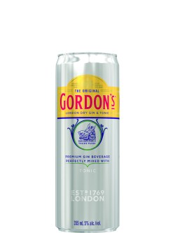 Gordon's London Dry Gin & Tonic 4 Pack Cans