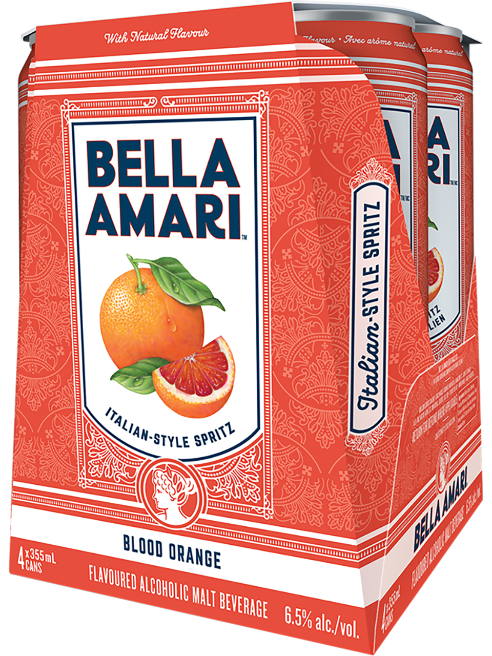 Bella Amari Blood Orange 4 Pack Cans