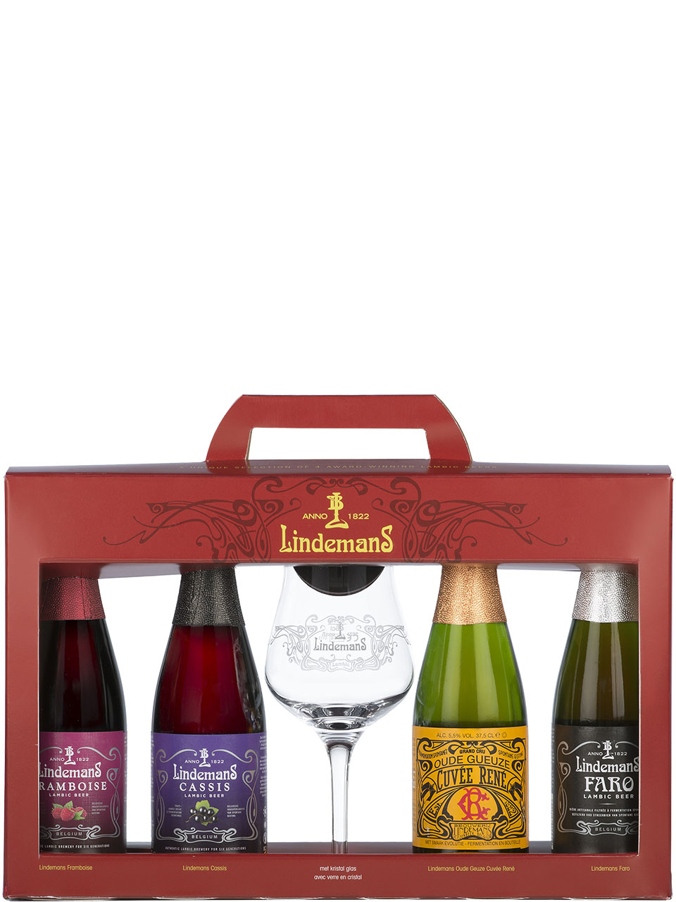 Lindemans 4 Bottle Gift Pack with Glass