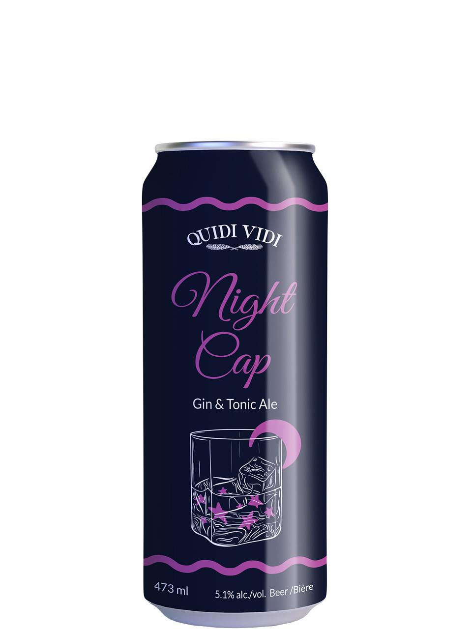 Quidi Vidi Night Cap Gin & Tonic Ale 473ml Can