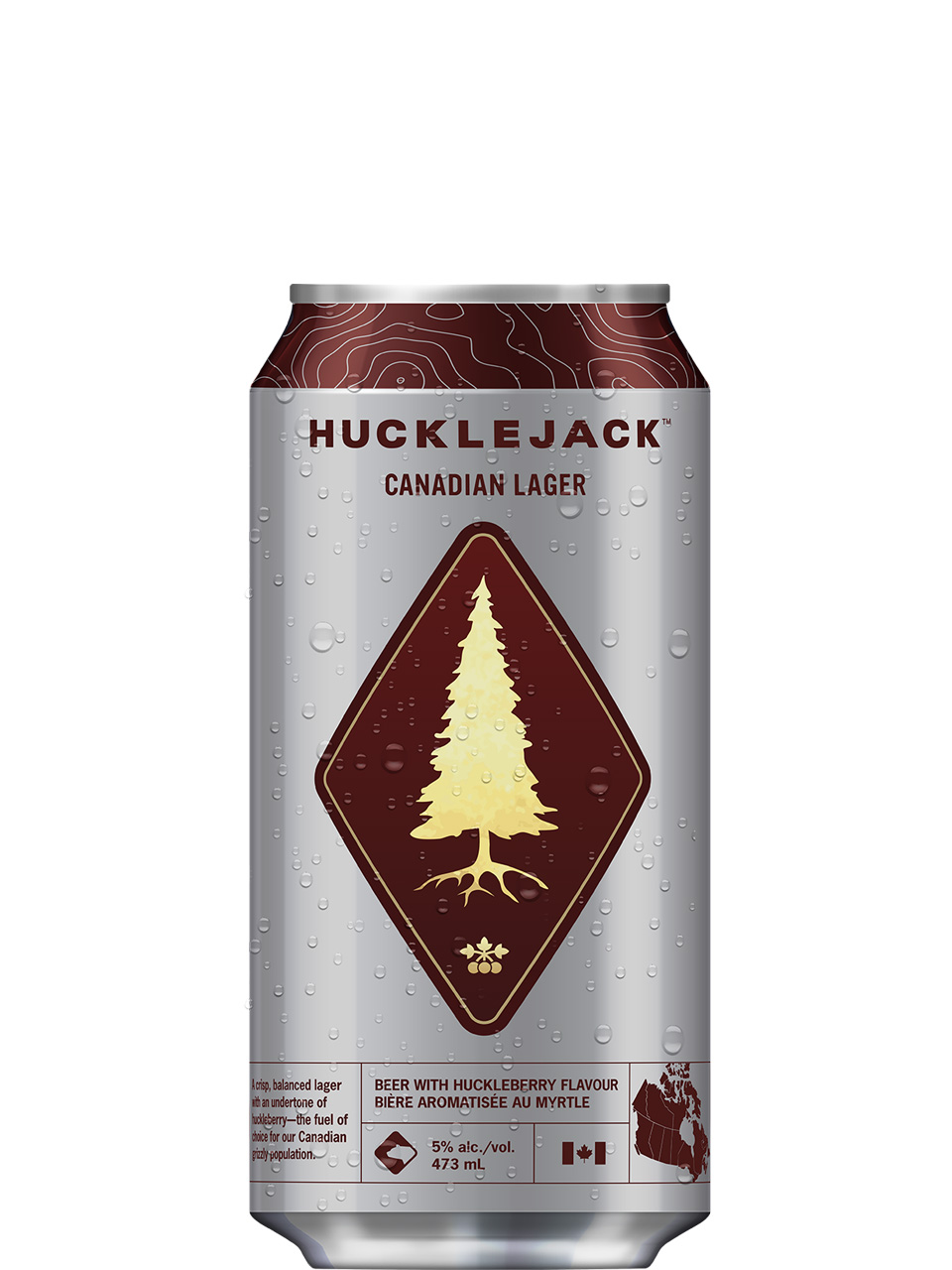 Hucklejack Canadian Lager 473ml Can