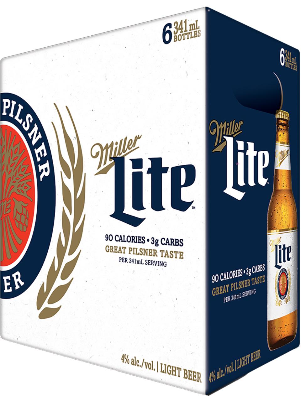 Miller Lite 6 Pack Bottles