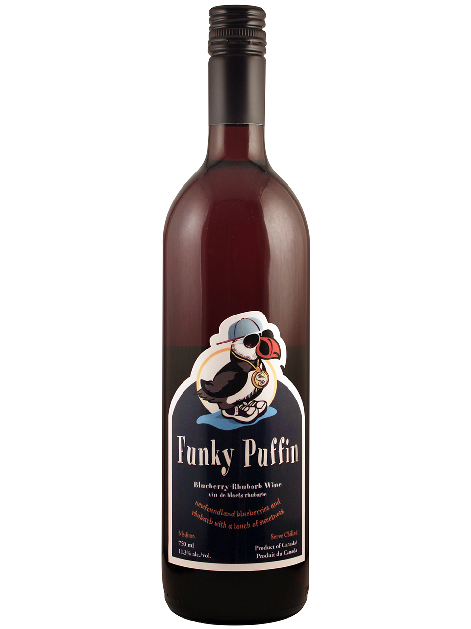 Funky Puffin Blueberry Rhubarb