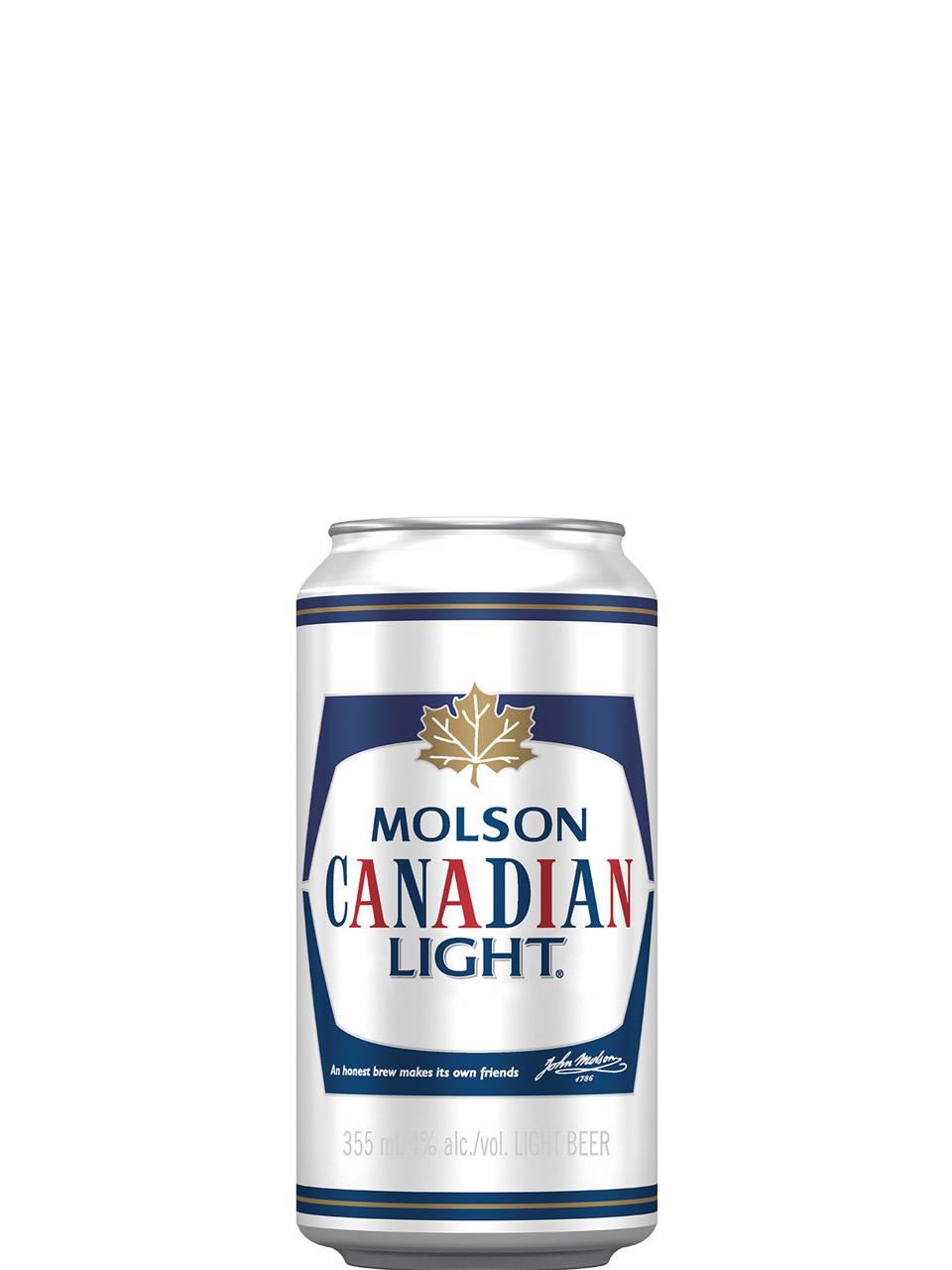 Molson Canadian Light Cans 8Pk