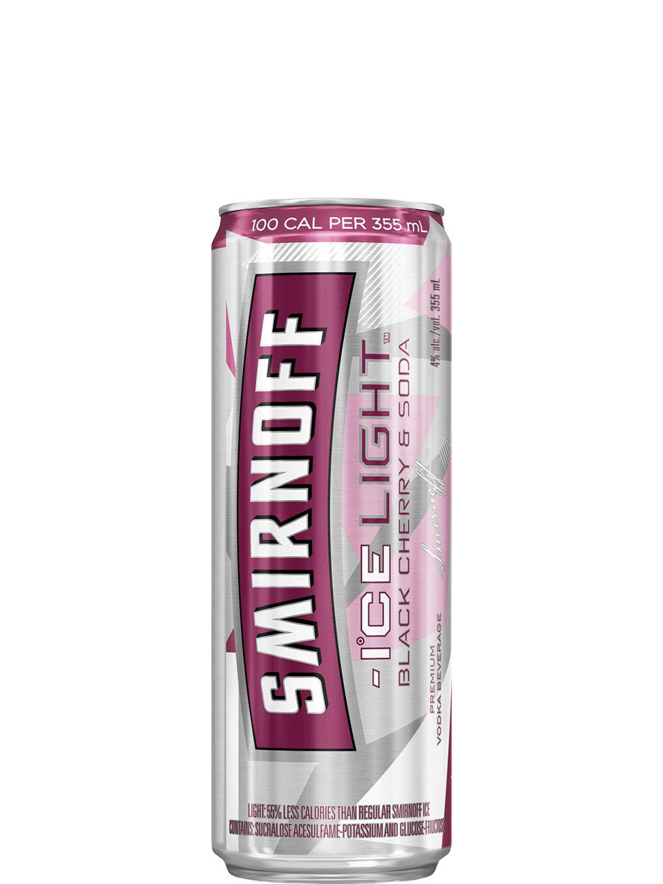 Smirnoff Ice Light Black Cherry & Soda 4 Pack Cans