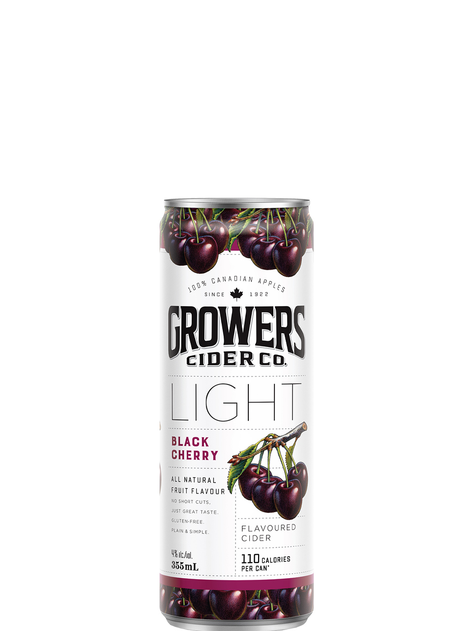Growers Light Black Cherry Cider 355ml Can