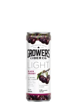 Growers Light Black Cherry Cider 355ml Can