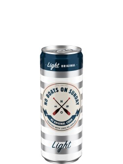 No Boats on Sunday Light 4 Pack Cans