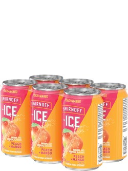 Smirnoff Ice Peach Mango 6 Pack Cans